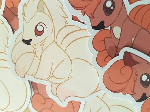 Pokemon Ninetales Vulpix Sticker