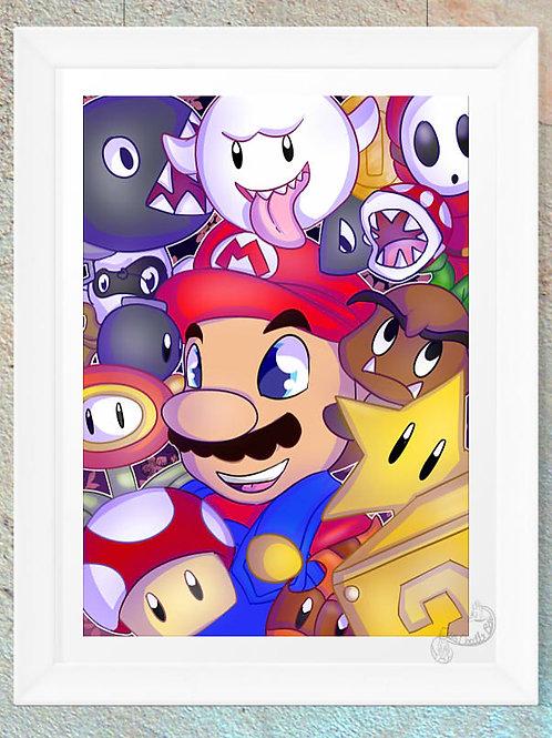 Super Mario Collage Nintendo