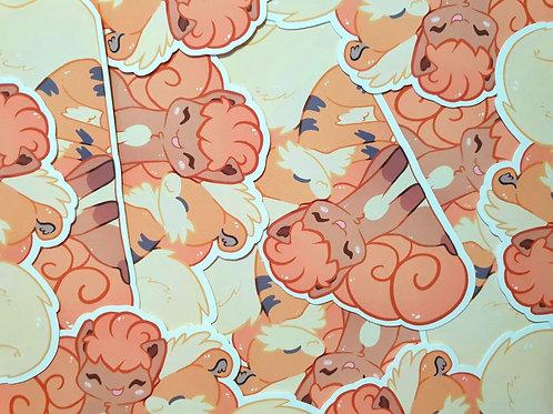Vulpix & Growlithe Sticker
