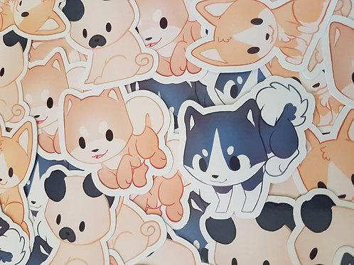 Chibi Dog Stickers