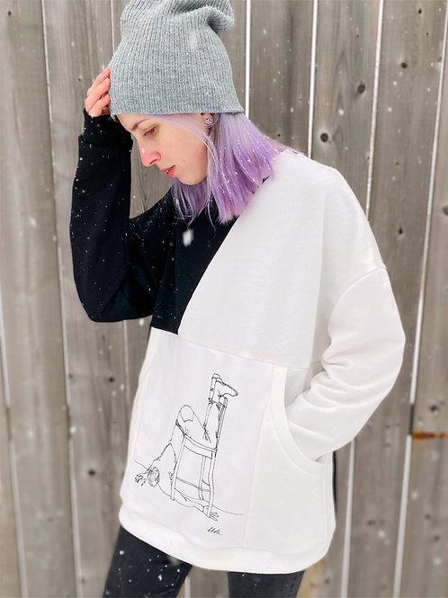 Oversized sweatshirt ''Mhmm''