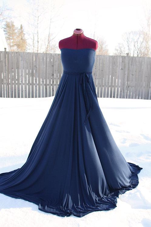 Blue Dot Dress 2 in 1