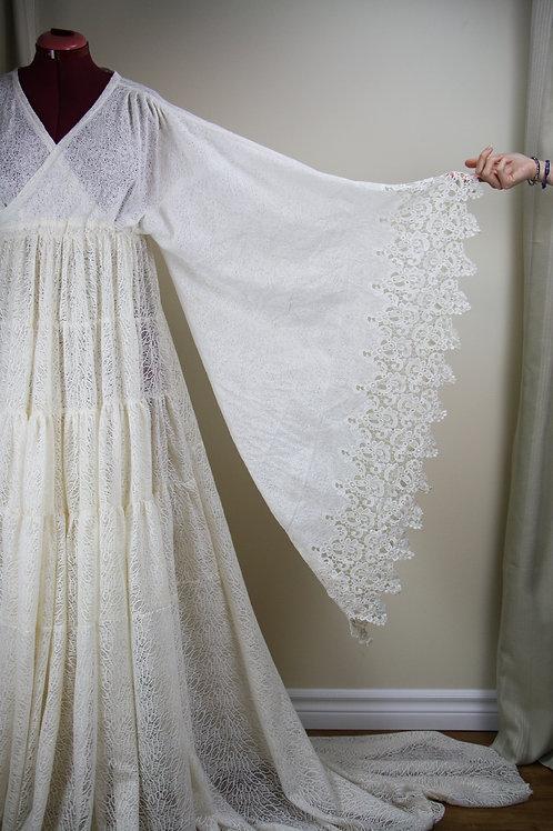 Milk White Lace Dress (rental)