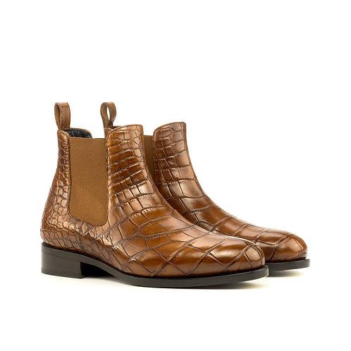 Chelsea Boot in Mid Brown Alligator