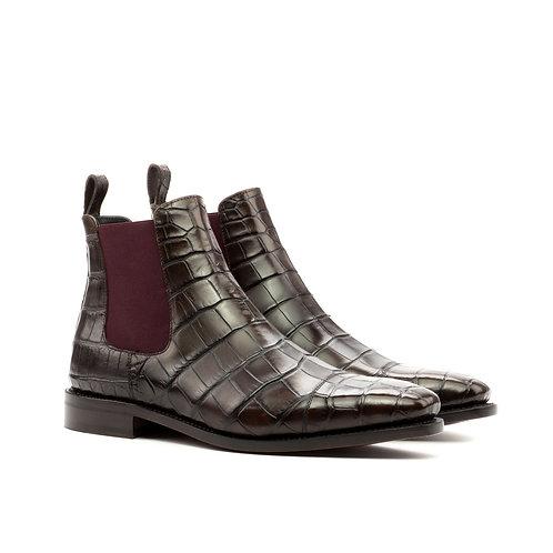 Chelsea Boot in Brown Alligator