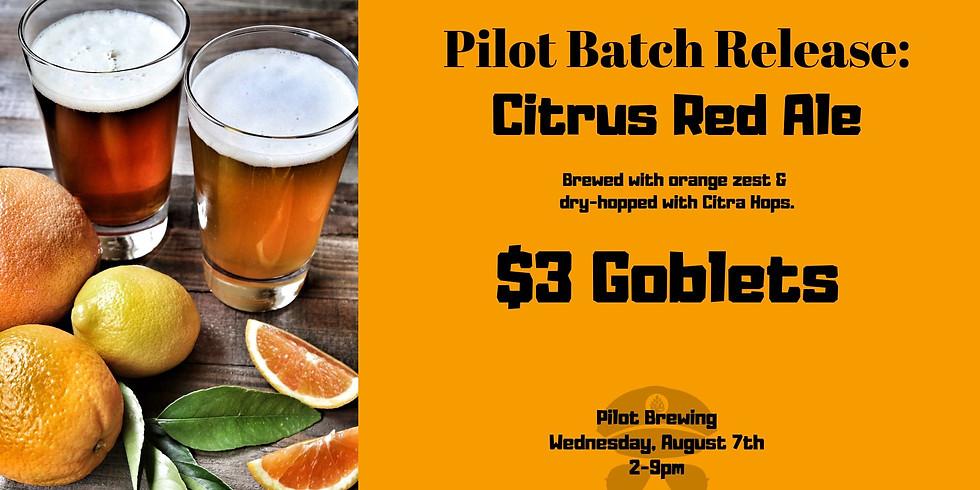 New Pilot Batch Release: Citrus Red Ale