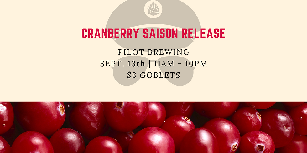 New Pilot Batch Release: Cranberry Saison