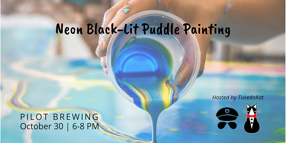 Neon Black-Lit Puddle Painting