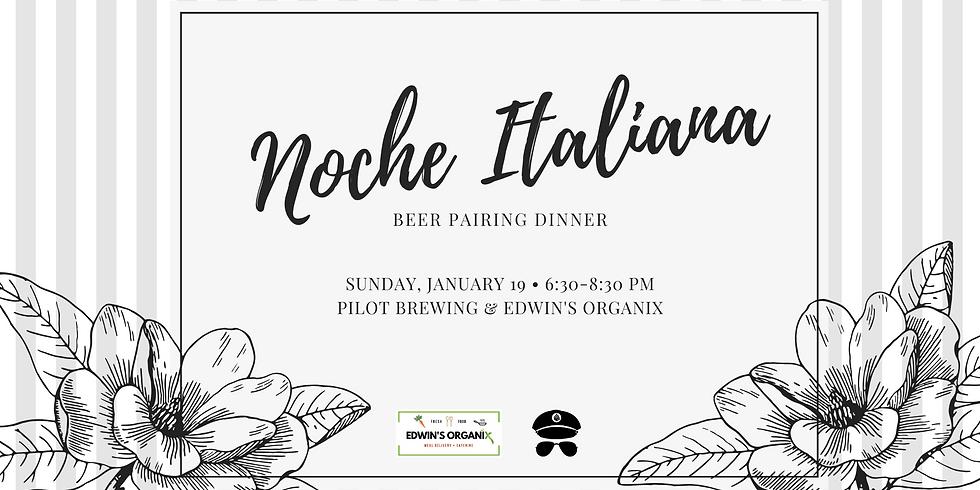 Noche Italiana Beer Dinner