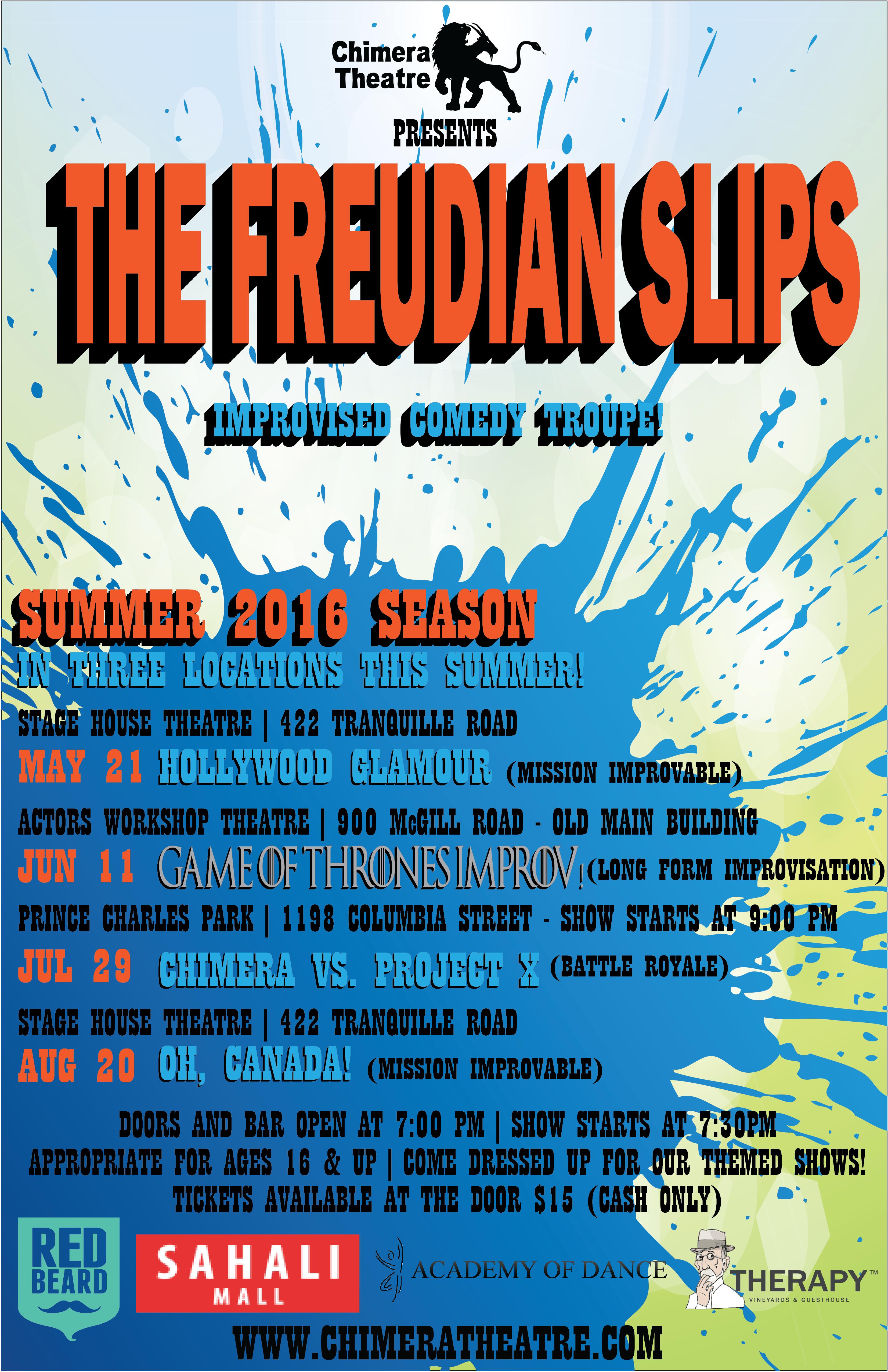 The Freudian Slips Summer 2016 - Poster