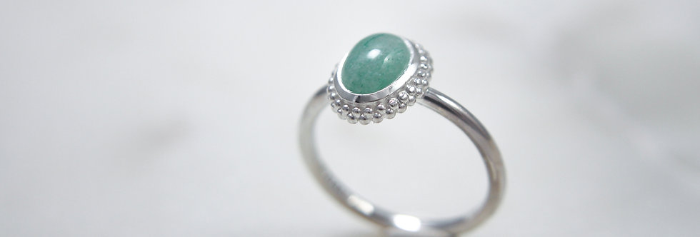 Mystic Garden ring mint small