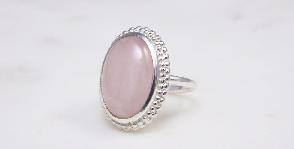 Mystic Garden big cocktail ring pink