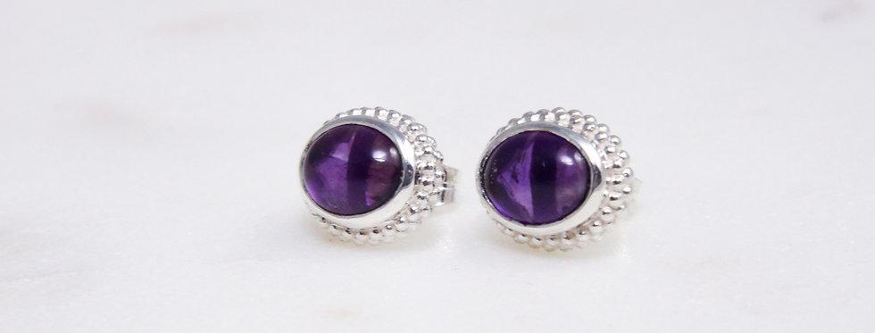Mystic Garden earrings purple