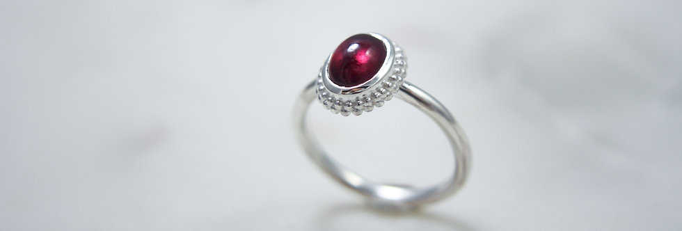 Mystic Garden ring red small