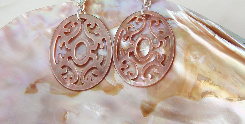 Mandala earrings silver