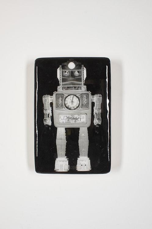 woodentiles.de, robot, Alps (Bandai) Moon Explorer Robot 1967, Blechspielzeug, Wall Art