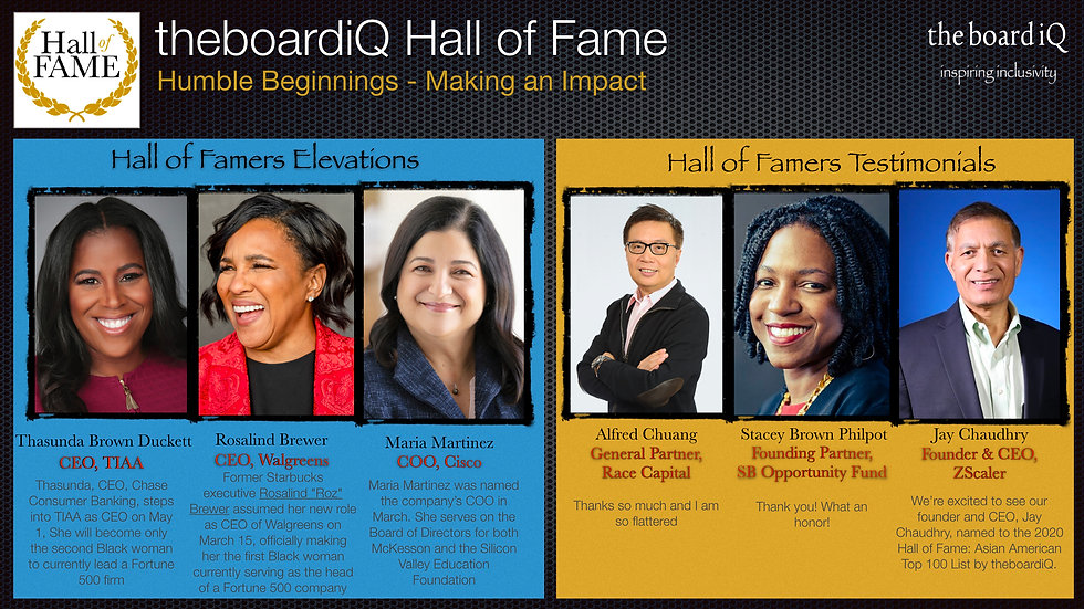 theboardiQ Hall of Fame Emerging Leaders