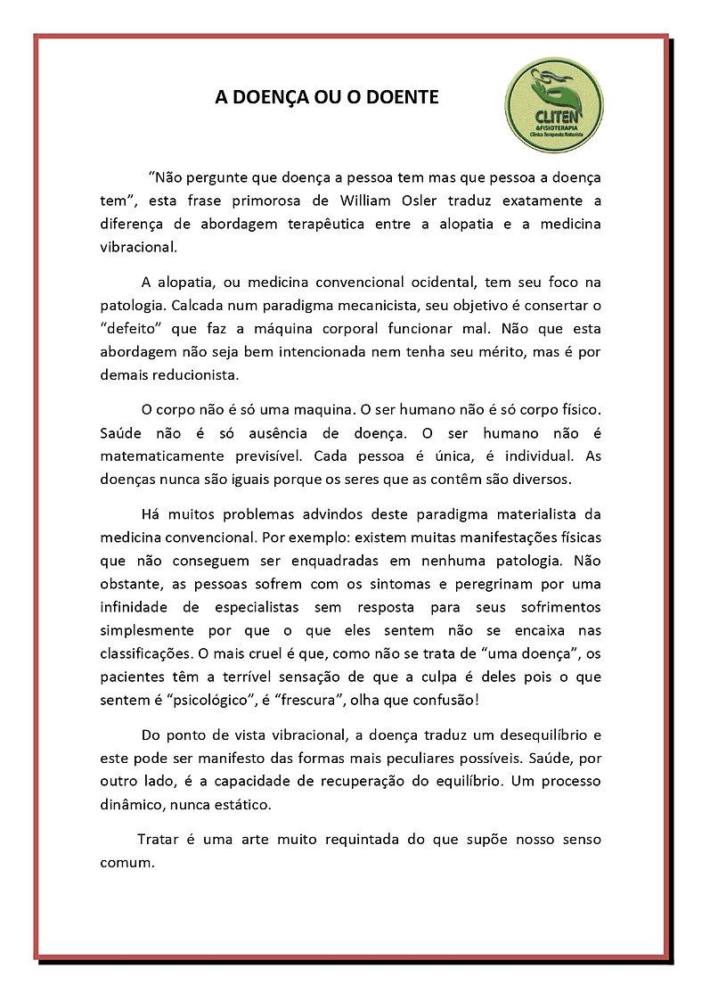 DOENÇA OU DOENTES1