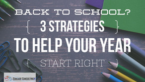 3 Strategies to Start Your School Year Right