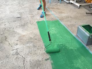 床をグリーンに♪