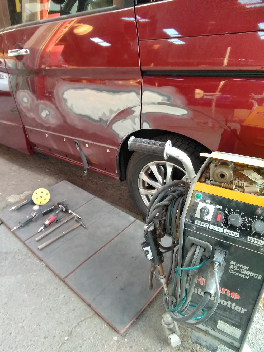 美濃加茂市 可児市 加茂郡 自動車 へこみ きず 自動車修理 鈑金