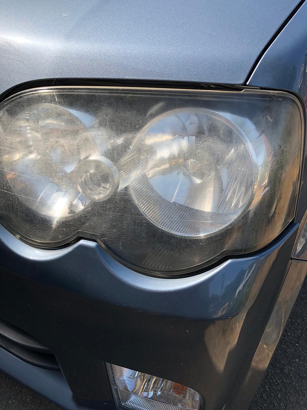 可児市 自動車 鈑金 板金 ヘッドライト黄ばみ