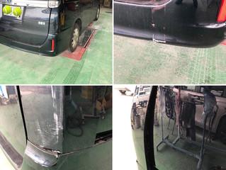 ヴォクシーの鈑金、塗装、修理