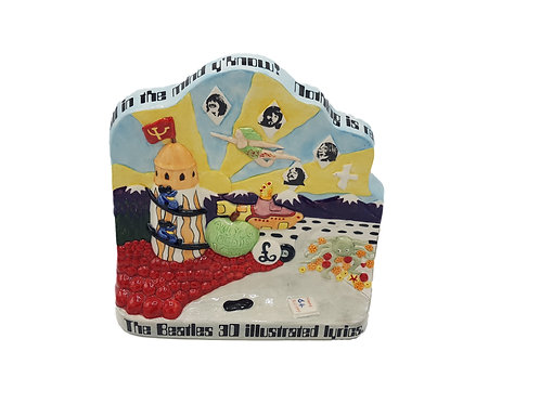 Bairstow Manor Pottery Wall Plaque 'The Beatles 3D Illustrated Lyrics'