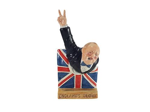 Bairstow Manor Pottery Figure Winston Churchill 'England's Glory'