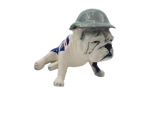 Carlton Ware Figure British Bulldog Wearing a Helmet