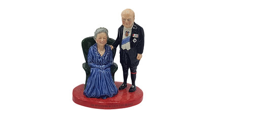 Bairstow Manor Pottery Character Figure 'Clementine and Churchill'