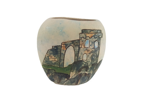 Burslem Pottery Vase 'Mow Cop' Staffordshire
