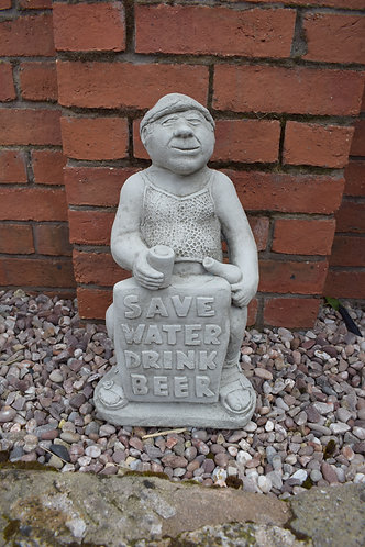 'Save Water, Drink Beer' Statue