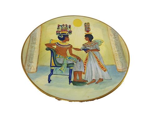 Rare Peter Smith Plate 'King Tut & Queen Ank' Ex Doulton/Minton Painter
