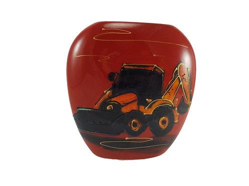 Limited Edition Anita Harris Art Pottery Purse Vase 'Digger'