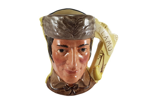 Large Double Sided Royal Doulton Character Jug 'Crockett & Lopez de Santa Anna'
