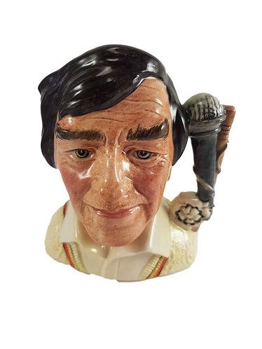 Small Royal Doulton Character Jug 'Freddie Trueman'