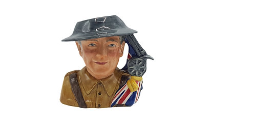 Bairstow Manor Pottery Character Jug 'Lest We Forget'