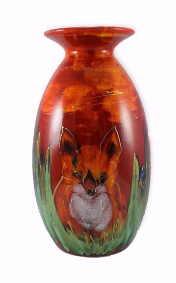 Anita Harris Fox Minos Vase