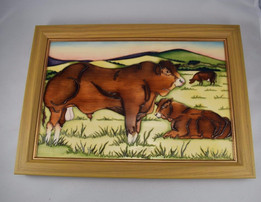 Moorcroft Original Prototype Limousin Plaque