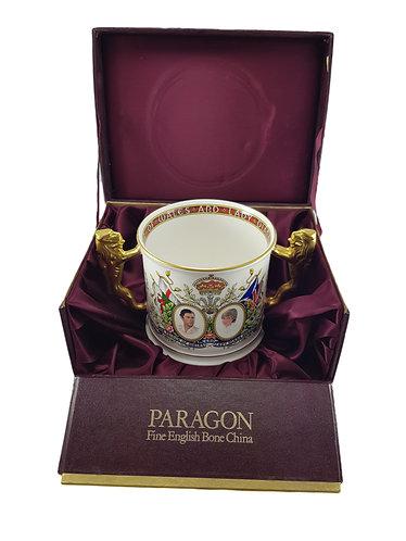 Boxed Paragon China Loving Cup Charles & DianaBoxed Paragon China Loving Cup Cha