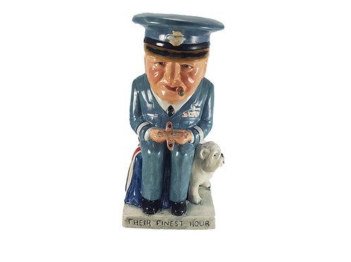 Bairstow Manor Pottery Figure 'Air Commodore Winston Churchill'