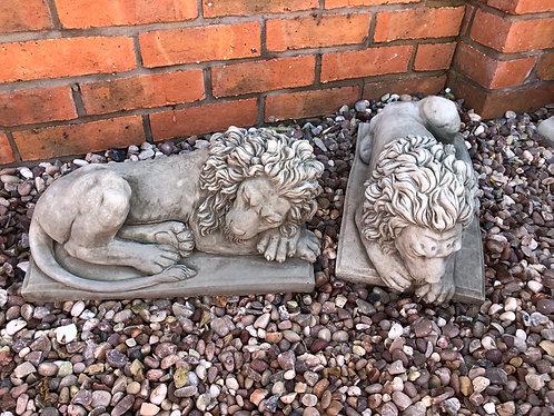 Lions on Plinths