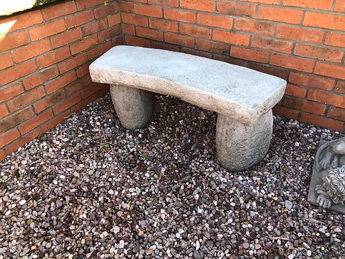 Rustic Carved Bench