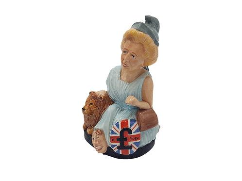 Rare Lady Grace China (Bairstow Manor) Figure 'Britannia Thatcher'