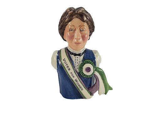 Bairstow Manor Pottery Character Jug 'Emmeline Pankhurst'