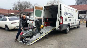 motorcycle loading ramp folding