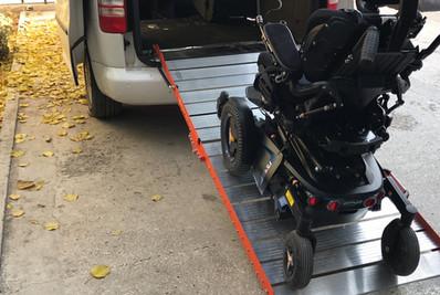 wheelchair van ramp use