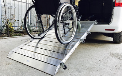 portable van ramp wheelchair