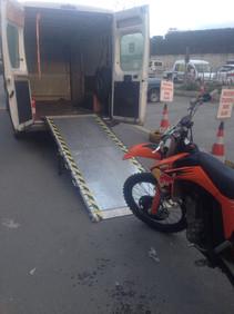motorcycle loading ramp van